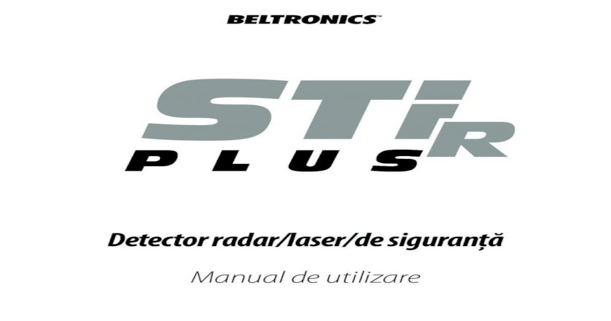 Detector radar/laser/de siguranإ£ؤƒ Manual de