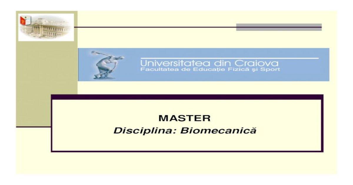 biomecanica membrului superior pdf